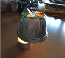 Construcción de la lámpara giratoria estelar